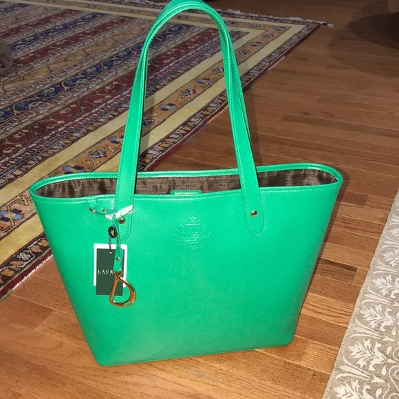 Lauren Ralph Lauren NWT green tote! 06e761cd62b66